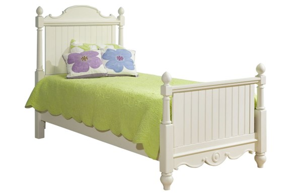 Summer Breeze Cottage Off White Full Scroll Top Low Poster Headboard LGC-481-4104C