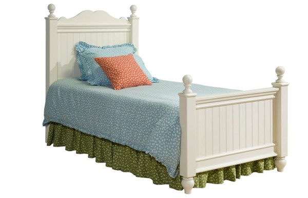 Summer Breeze Cottage Off White Full Low Poster Bed 4/6 LGC-481-4204K-LPOFB