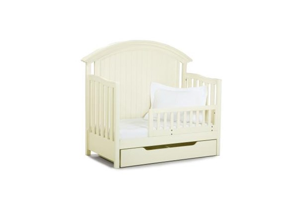 Summer Breeze Cottage Off White Toddler Daybed and Guard Rail LGC-481-8920C