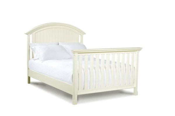 Summer Breeze Cottage Off White Full Size Bed-Converter Bed Rails LGC-481-8930C