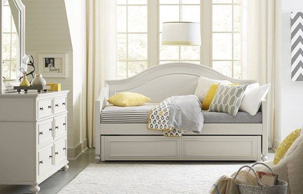 Haley Morning Mist Wood Daybed w/Trundle-Storage Drawer LGC-4830-5401-TD