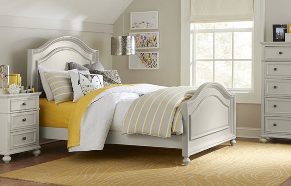Haley Morning Mist Wood 4pc Bedroom Sets LGC-4830-BR-S