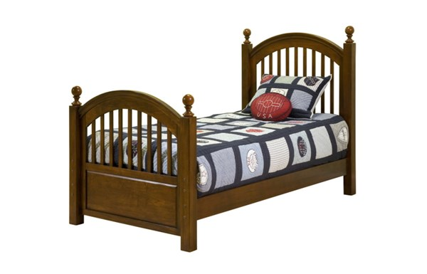 American Spirit Casual Brown Cherry Twin Low Poster Footboard 3/3 LGC-490-4113C