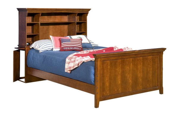 American Spirit Casual Brown Cherry Poplar Solid Wood Bookcase Beds LGC-490-BEDS-VAR