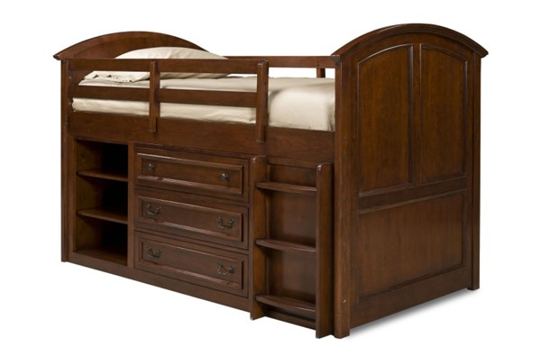 American Spirit Casual Brown Cherry Twin Bed Ends with Slat Roll 3/3 LGC-490-8333