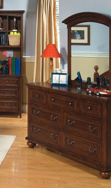 American Spirit Casual Brown Cherry Drawer Dresser LGC-490-1100C