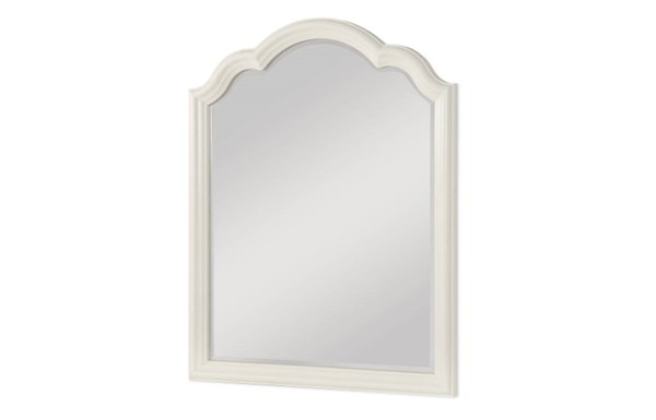 Harmony By Wendy Bellissimo Antique Linen White Wood Mirror LGC-4910-0100