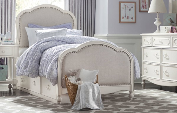 Legacy Kids Harmony by Wendy Bellissimo White Twin Drawer Bed LGC-4910-4803K-SD