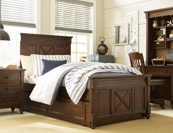 Big Sur By Wendy Bellissimo Wood Full Panel Bed w/Trundle Drawer LGC-4920-4104-TD