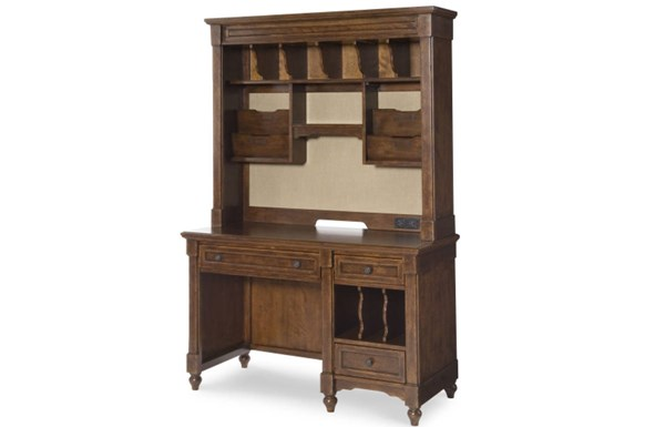 Big Sur By Wendy Bellissimo Traditional Saddle Brown Wood Desk w/Hutch LGC-4920-6100-6200