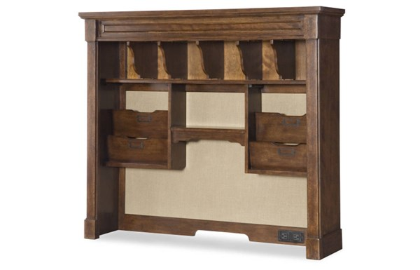 Big Sur By Wendy Bellissimo Traditional Saddle Brown Wood Fabric Hutch LGC-4920-6200
