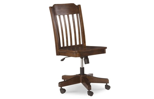 Big Sur By Wendy Bellissimo Traditional Saddle Brown Wood Desk Chair LGC-4920-640KD