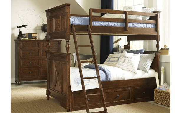 Wendy Bellissimo 2pc Bedroom Set W/Twin-Twin Underbed Drawer Bunk Bed LGC-4920-BR-S16