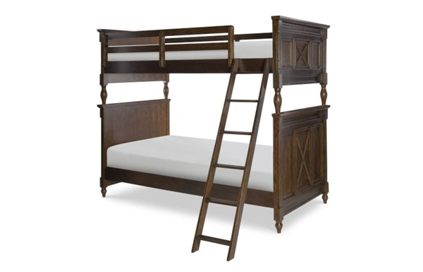 Big Sur By Wendy Bellissimo Saddle Brown Wood Bunk Headboard-Footboard LGC-4920-8130
