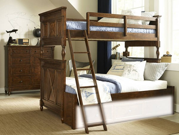 Big Sur By Wendy Bellissimo Saddle Brown Wood Bottom Bunk Extension LGC-4920-8140