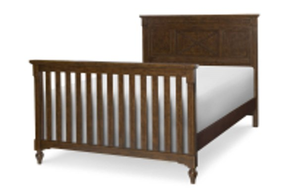 Big Sur By Wendy Bellissimo Saddle Brown Wood Converter Bed Rails LGC-4920-8930