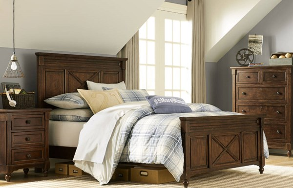 Big Sur By Wendy Bellissimo Traditional Brown Wood 2pc Bedroom Sets LGC-4920-BR-VAR1