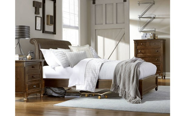 Big Sur By Wendy Bellissimo 2pc Bedroom Set W/Twin Upholstered Bed LGC-4920-BR-S13