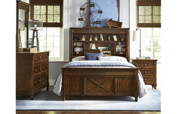 Big Sur By Wendy Bellissimo Traditional Saddle Wood 2pc Bedroom Sets LGC-4920-BR-VAR2