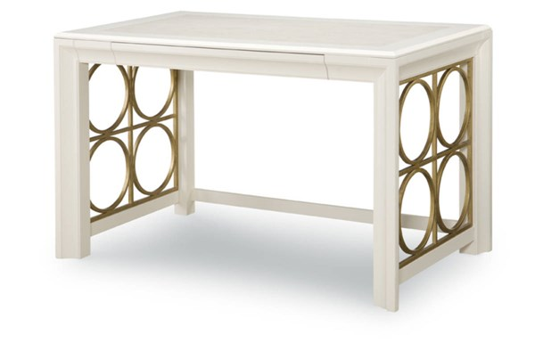 Tower Suite Contemporary Marbleized Pearl Wood Writing Desk LGC-5010-509