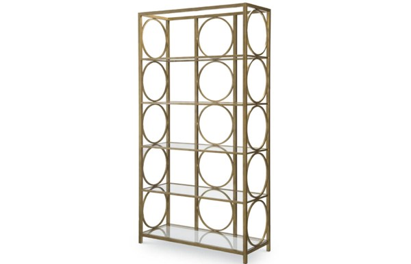 Tower Suite Contemporary Marbleized Pearl Wood Etagere LGC-5010-5201