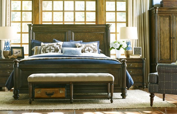 Barrington Farm Traditional Wood 5pc Bedroom Set w/Cal King Panel Bed LGC-5200-BR-S3
