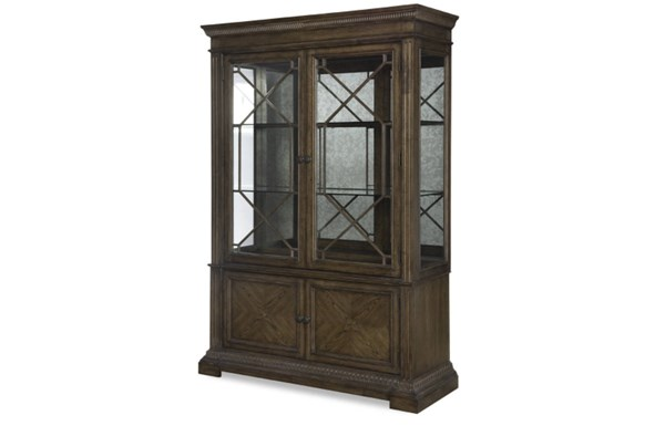 Renaissance Transitional Waxed Oak Wood Display Cabinet Top LGC-5500-174-T