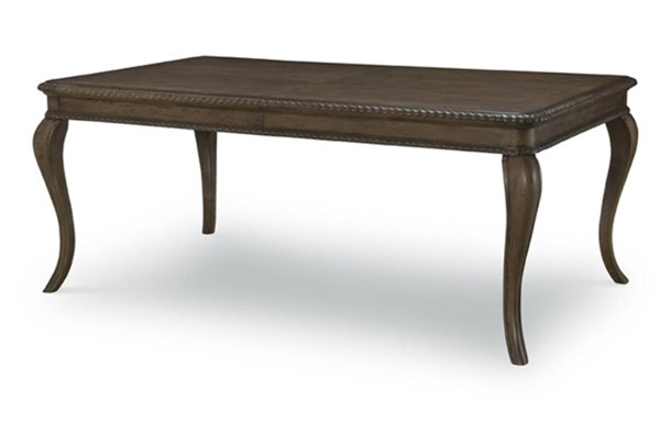 Renaissance Transitional Waxed Oak Wood Leg Table LGC-5500-221