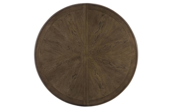 Renaissance Transitional Waxed Oak Wood Round To Oval Table-Top LGC-5500-521-T