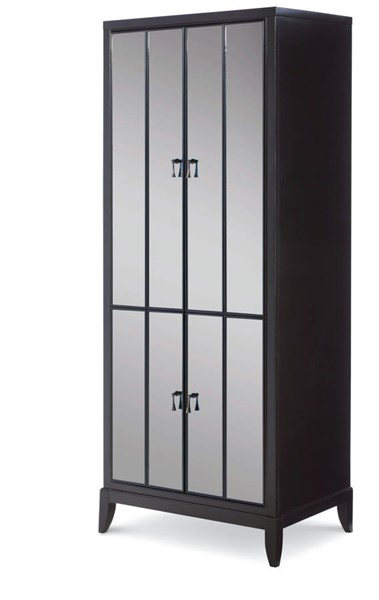 Legacy Furniture Symphony Platinum Black Tie Utility Cabinet The Classy Home