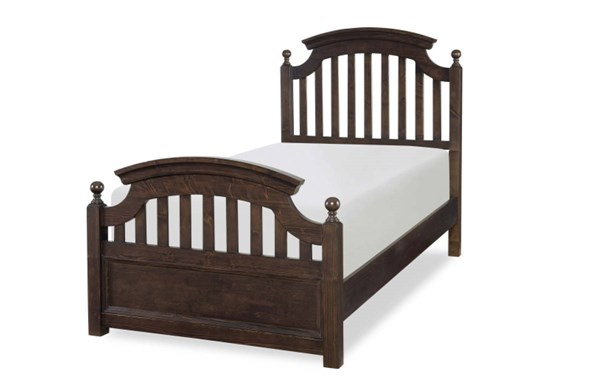Academy Traditional Molasses Solid Hardwood Twin Panel Bed LGC-5810-4103K