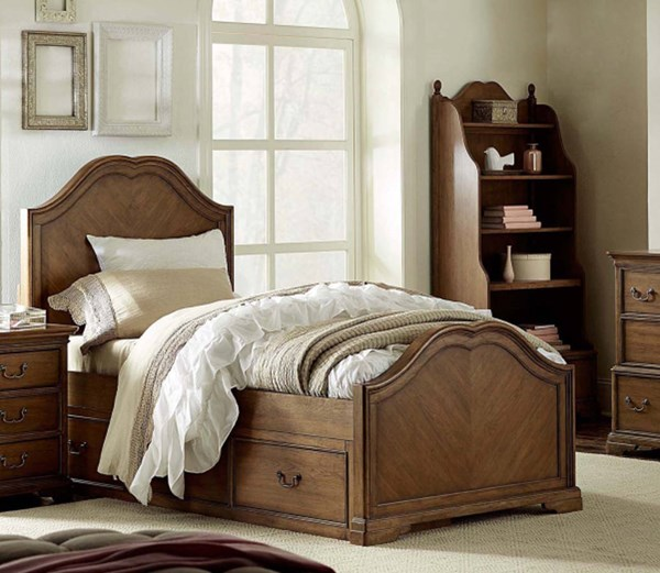 Danielle Wood Full Sweetheart Panel Bed w/Underbed Storage Drawer LGC-5840-4104-SD