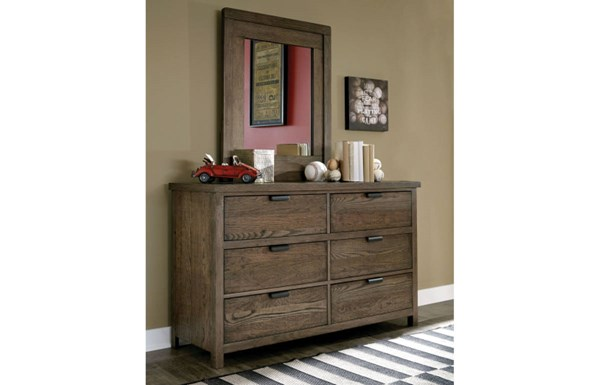 Fulton County Tawny Brown Wood Drawers Dresser LGC-5900-1100