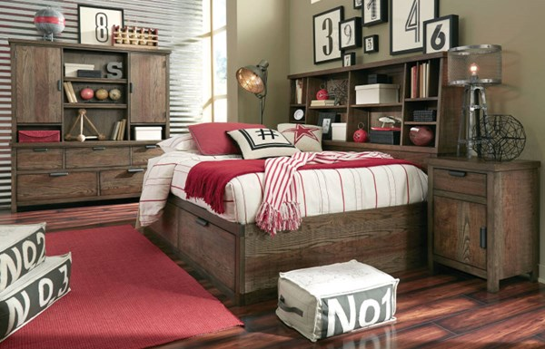 Fulton County Tawny Brown Wood 2pc Bedroom Sets LGC-5900-BR-VAR2