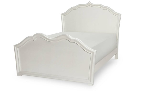 Tiffany Pearlized White Wood Full Panel Bed LGC-5930-4104K