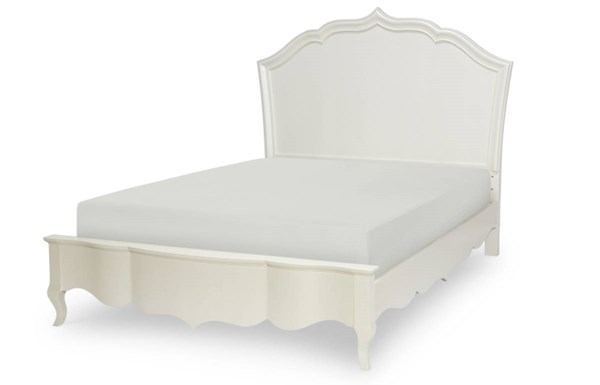 Tiffany Pearlized White Wood Full Platform Bed LGC-5930-4114K