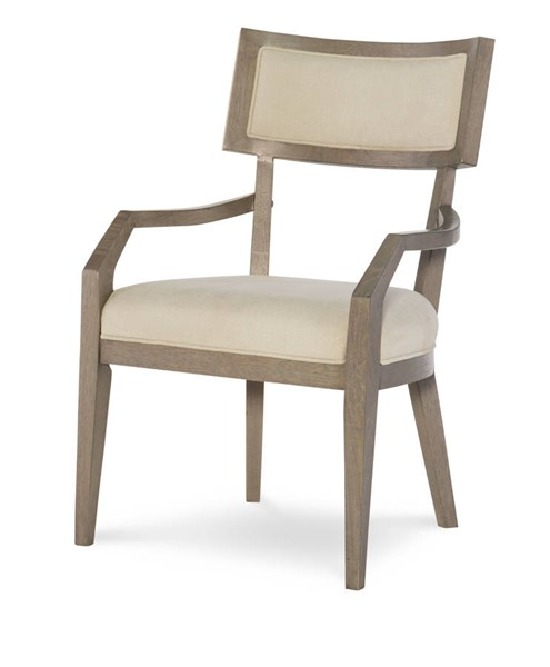 2 Legacy Furniture Highline by Rachael Ray Light Beige Greige Klismo Arm Chairs LGC-6000-341-KD