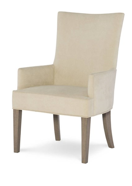 2 Legacy Furniture Highline By Rachael Ray Light Beige Greige Upholstered  Host Chairs