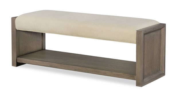 Legacy Furniture Highline by Rachael Ray Greige Upholstered Bench LGC-6000-4800