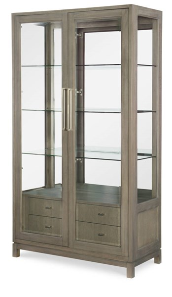 Legacy Furniture Highline by Rachael Ray Greige Bunching Display Cabinet LGC-6000-570