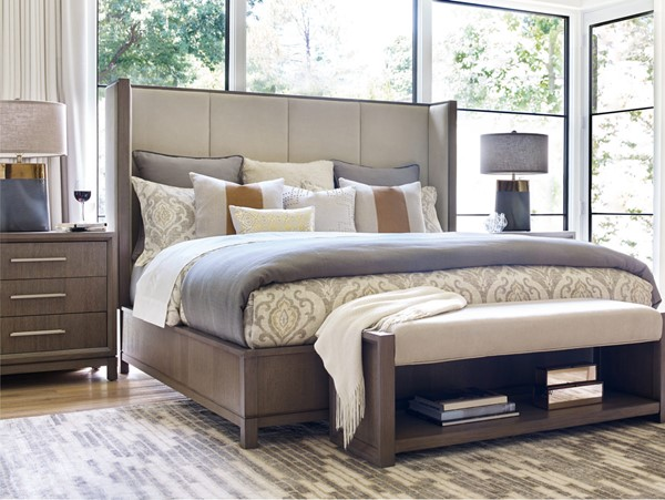 Legacy Furniture Highline by Rachael Ray Ivory Greige 2pc Bedroom Set with Queen Shelter Bed LGC-6000-4205K-Q-BR-S1