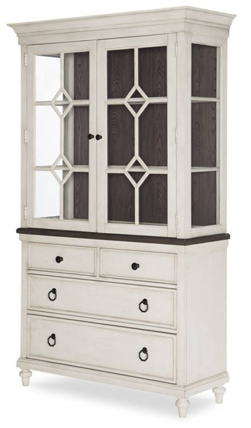 Legacy Furniture Brookhaven Vintage Linen China Cabinet LGC-6400-370-372