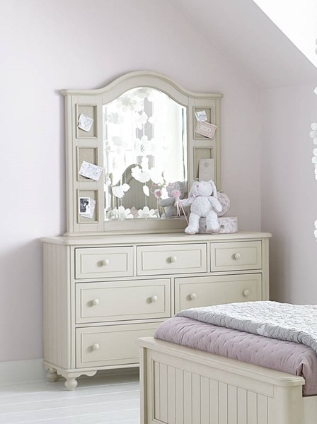 Legacy Kids Summerset Ivory Dresser and Landscape Mirror LGC-6481-1100-0200