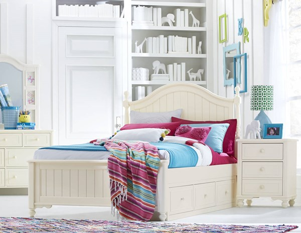 Legacy Kids Summerset Ivory 2pc Bedroom Set with Full Underbed Storage Drawer Bed LGC-6481-4204K-9300-S2