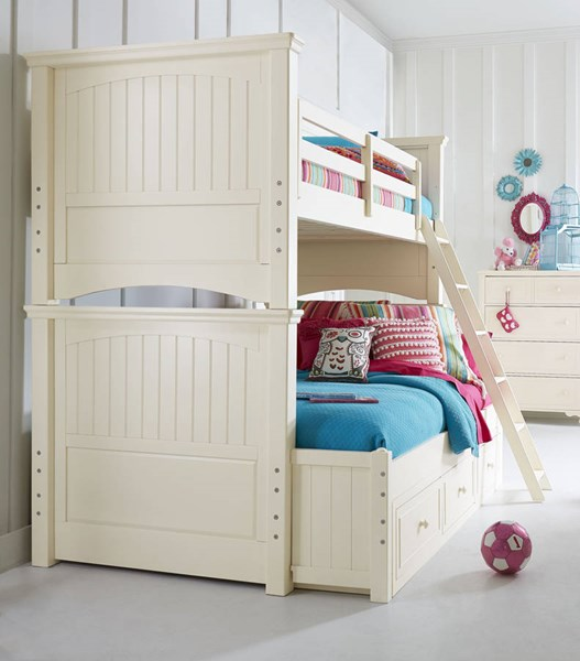 Legacy Kids Summerset Ivory Twin Over Full Bunk Bed with Underbed Storage Drawer LGC-6481-8140K-9300