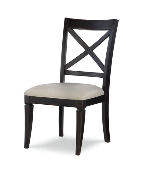 2 Legacy Furniture Everyday Peppercorn X Back Side Chairs LGC-7003-440-KD