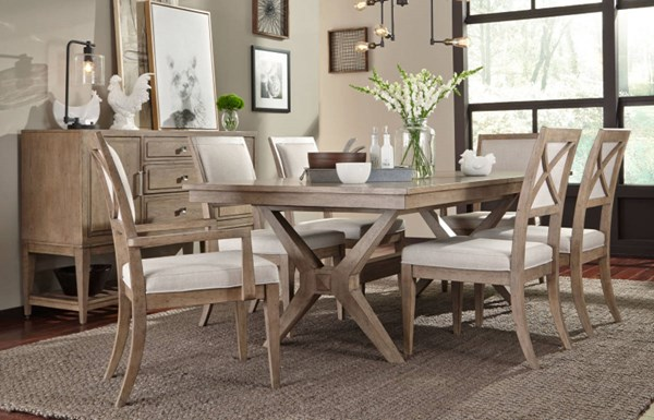 Legacy Furniture Bridgewater Weathered Oak Dining Room Set LGC-7100-DR