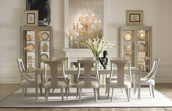 Legacy Furniture Cinema Grey 9pc Dining Room Set with Sling Back Chair LGC-7200-222-DR-S1