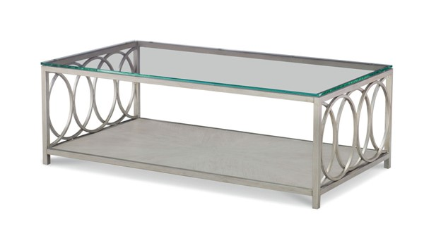 Legacy Furniture Cinema by Rachael Ray Grey Glass Top Cocktail Table LGC-N7200-501