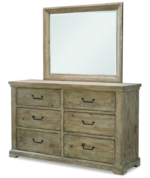 Legacy Furniture Monteverdi Sun Bleached Cypress Dresser and Mirror LGC-7500-0200-DRMR